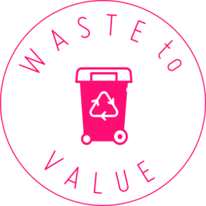 BIOVOX: Waste To Value Material Badge
