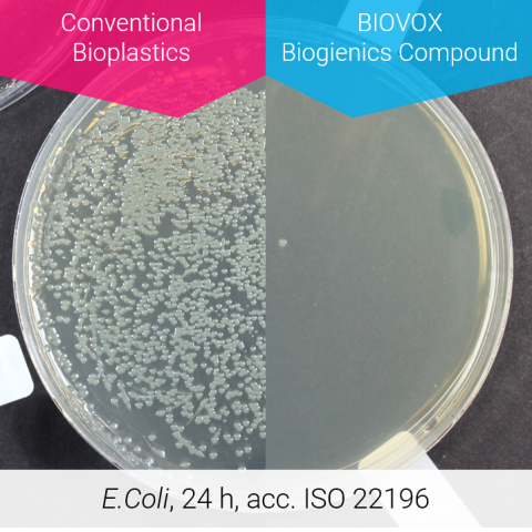Antimikrobiell wirksam nach ISO 22196.